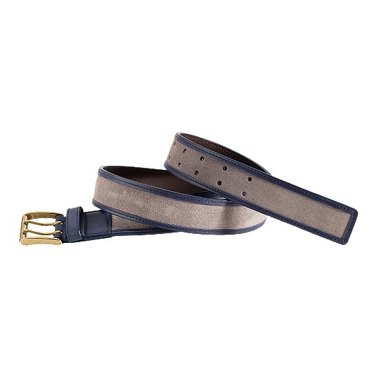Cole Haan Rockland Belt Opal Grey Suede/Navy Outlet Coupons