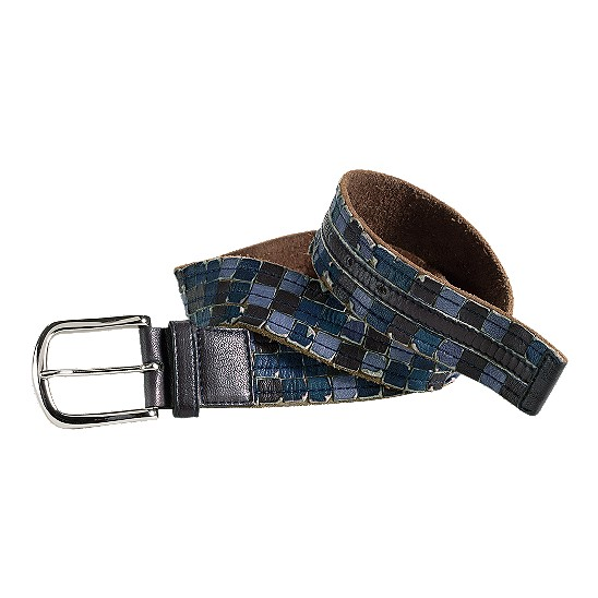 Cole Haan Salsbury Cove Belt Navy Multi Outlet Coupons
