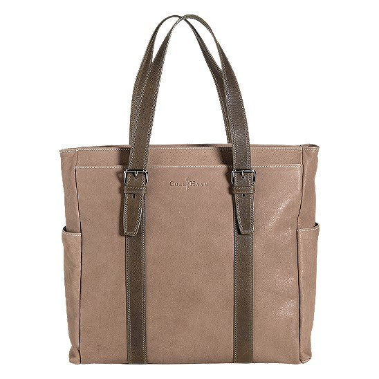 Cole Haan Trovato Zip Top Tote Taupe/Olive Outlet Coupons
