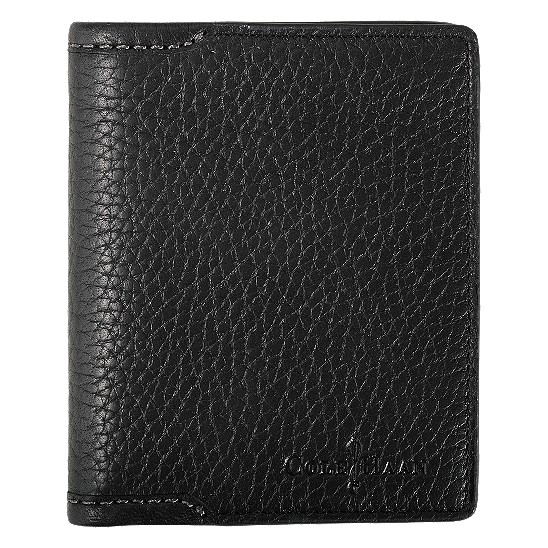 Cole Haan Merced ID Wallet Black Grain Outlet Coupons