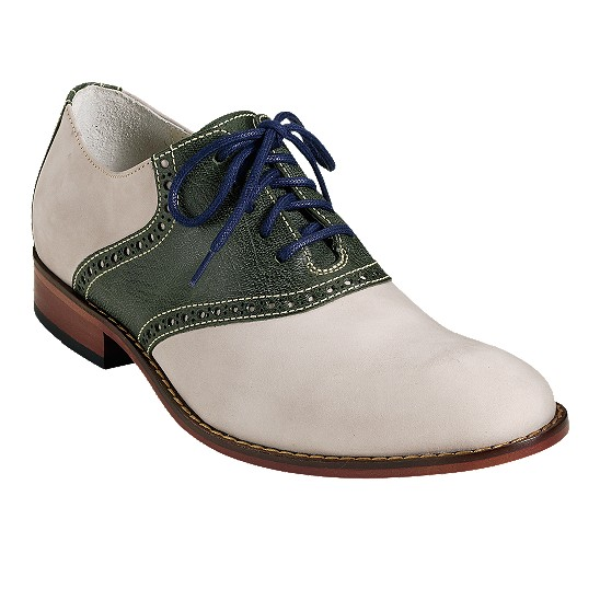 Cole Haan Air Colton Saddle Oxford Salt Nubuck/Military Green Outlet Coupons