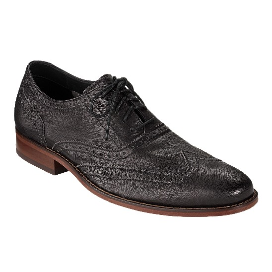 Cole Haan Air Colton Casual Wingtip Black Outlet Coupons