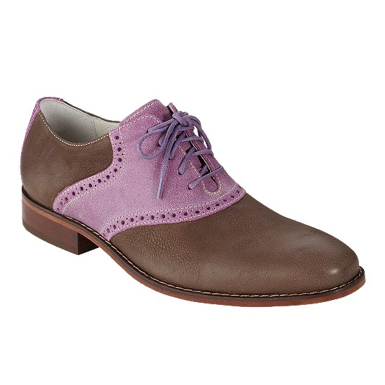 Cole Haan Air Colton Saddle Oxford Dusty Brown/Hibiscus Outlet Coupons