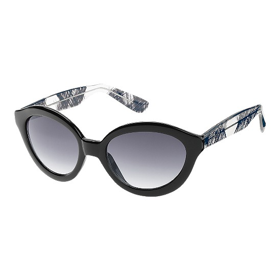 Cole Haan Glamour Oval w/Logo Sunglasses Black Outlet Coupons