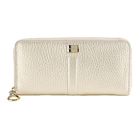 Cole Haan Village Travel Zip Wallet White Gold Outlet Coupons