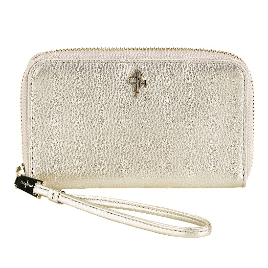 Cole Haan Jitney Electronic Wristlet White Gold Outlet Coupons