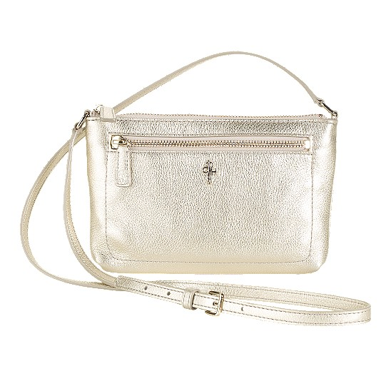 Cole Haan Jitney Ali Mini Crossbody White Gold Outlet Coupons