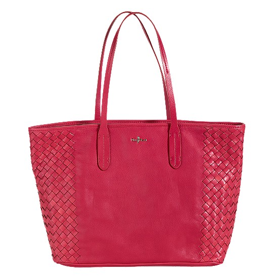 Cole Haan Victoria Leather Tote Tango Red Outlet Coupons
