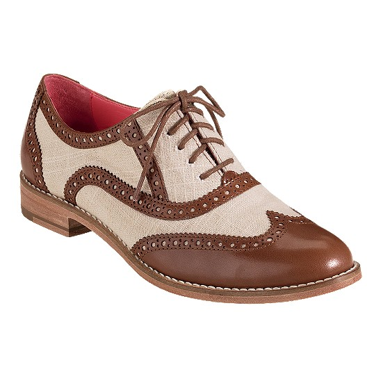 Cole Haan Skylar Oxford Sequoia/Natural Linen Outlet Coupons