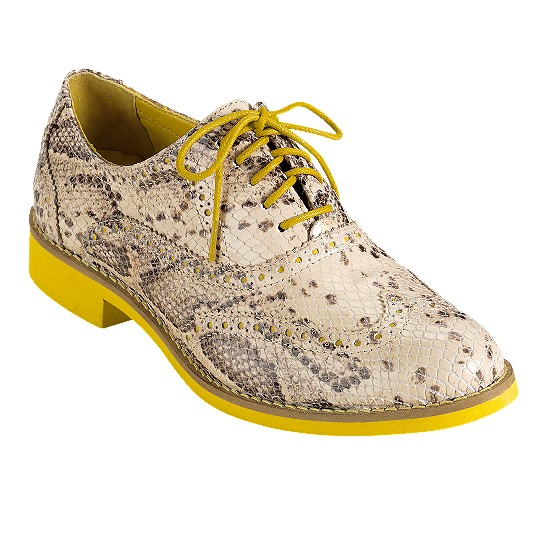 Cole Haan Alisa Oxford Cream Snake Print/Sunflower Outlet Coupons