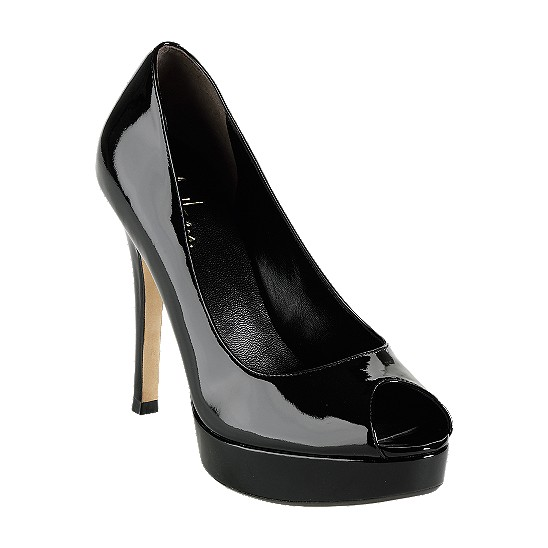 Cole Haan Mariela Air Open Toe Pump Black Patent Outlet Coupons