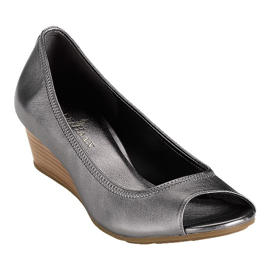 Cole Haan Air Tali Open Toe Wedge 43 Dark Silver Outlet Coupons