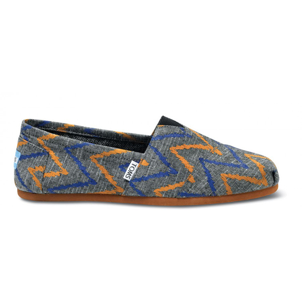 Toms Charcoal Zig Zag Men Classics Outlet Coupons