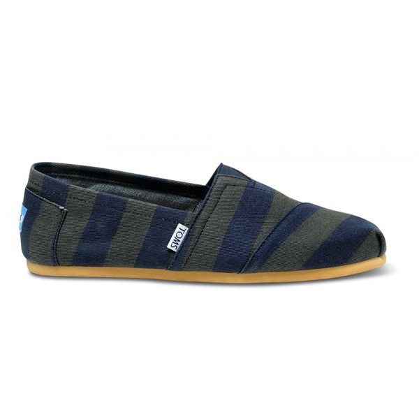 Toms Navy Denim Stripe Men Classics Outlet Coupons