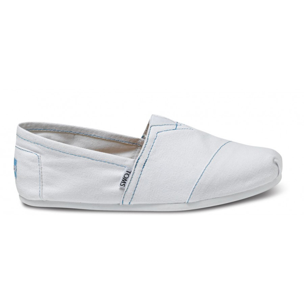 Toms White Canvas Men Classics Outlet Coupons