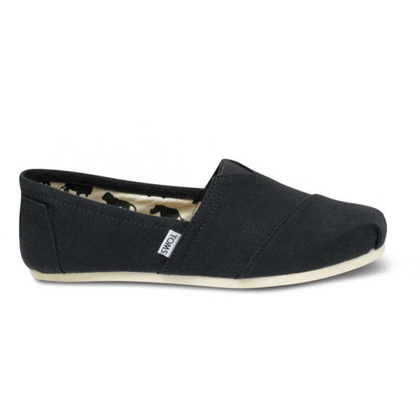 Toms Black Canvas Men Classics Outlet Coupons