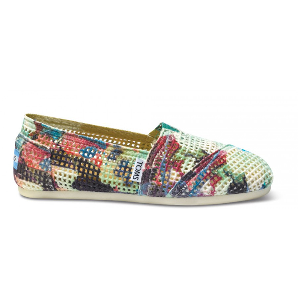Toms Green & Purple Printed Women Crochets Outlet Coupons