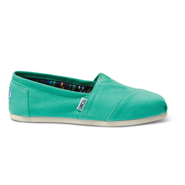 Toms Pool Green Women Canvas Classics Outlet Coupons