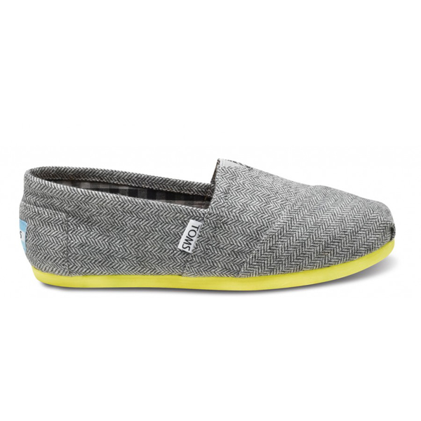Toms Yellow Pop Herringbone Women Classics Outlet Coupons