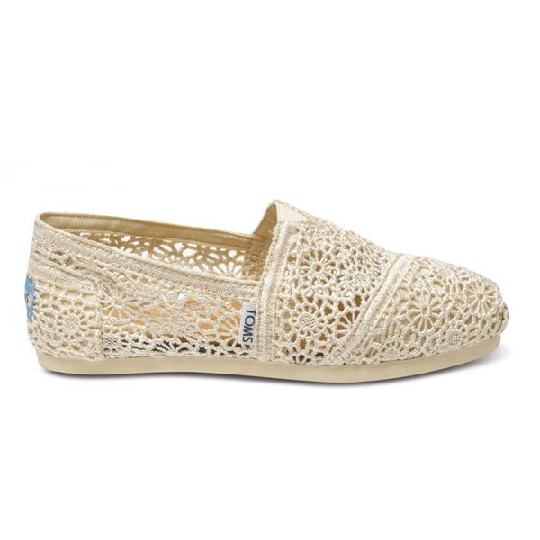 Toms Natural Crochet Women Classics Outlet Coupons