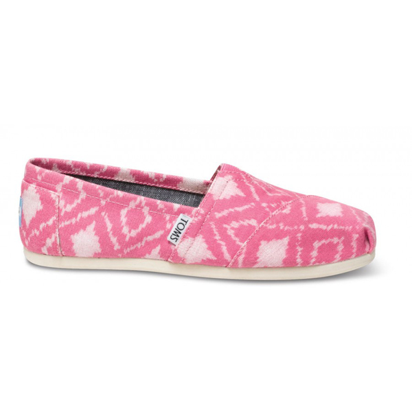 Toms Pink Geometric Ikat Women Classics Outlet Coupons