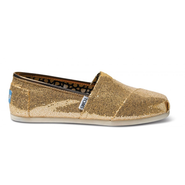 Toms Rose Gold Glitter Women Classics Outlet Coupons