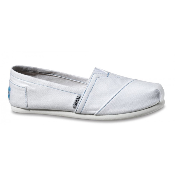 Toms White Canvas Women Classics Outlet Coupons