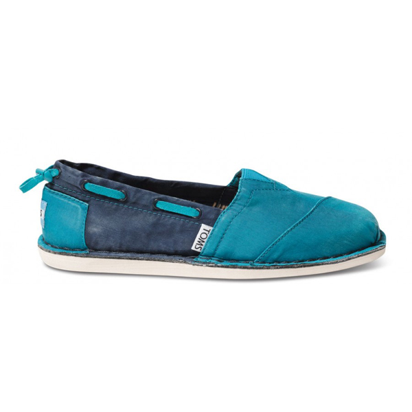 Toms Turquoise Navy Women Bimini Stitchouts Outlet Coupons