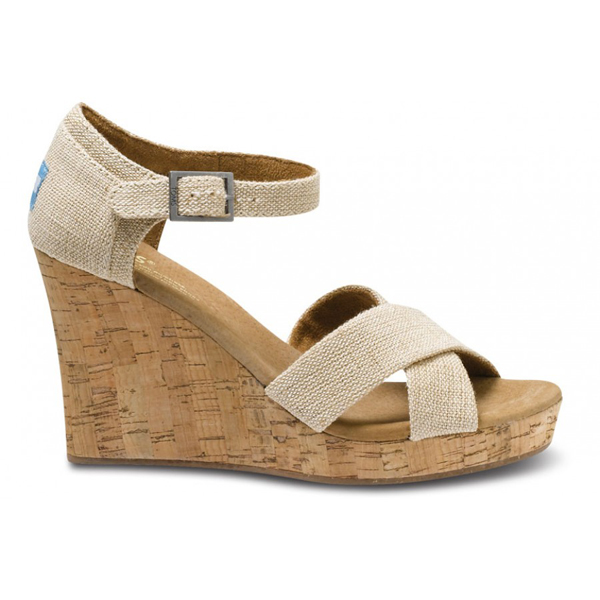 Toms Sierra Women Strappy Wedges Outlet Coupons