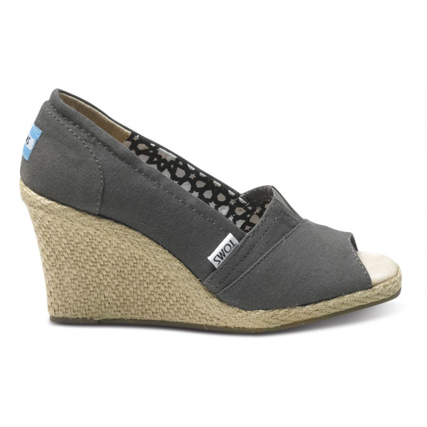 Toms Ash Calypso Canvas Women Wedges Outlet Coupons