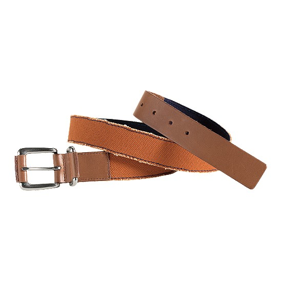 Cole Haan Port Clyde Belt Orange Canvas/Cuoio Outlet Coupons
