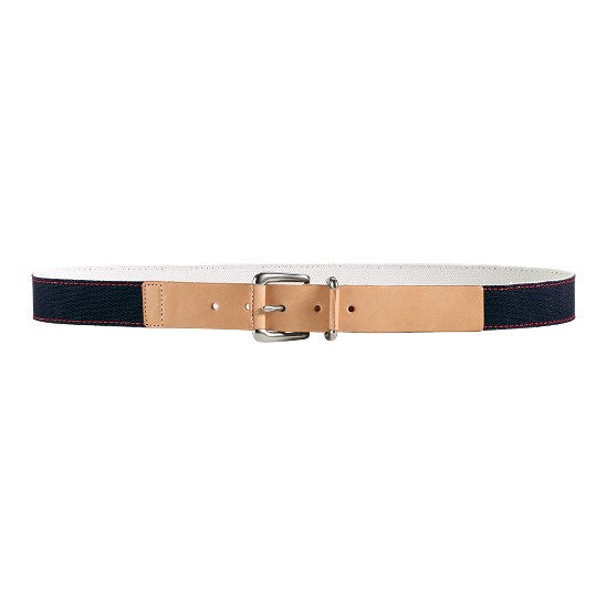 Cole Haan Port Clyde Belt Navy Canvas/Buff Outlet Coupons