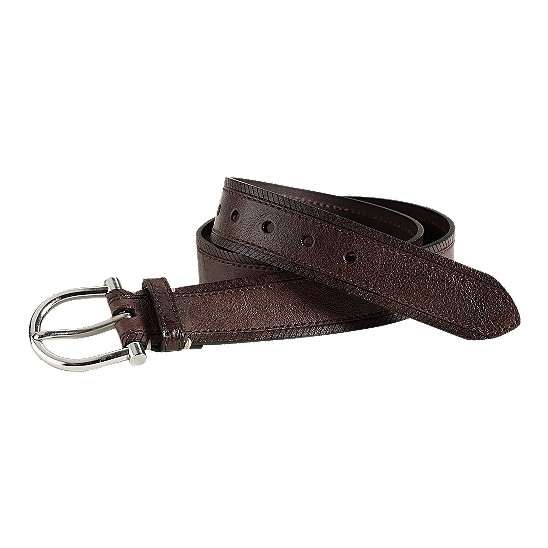 Cole Haan Boothbay Belt Dark Brown Washed Outlet Coupons
