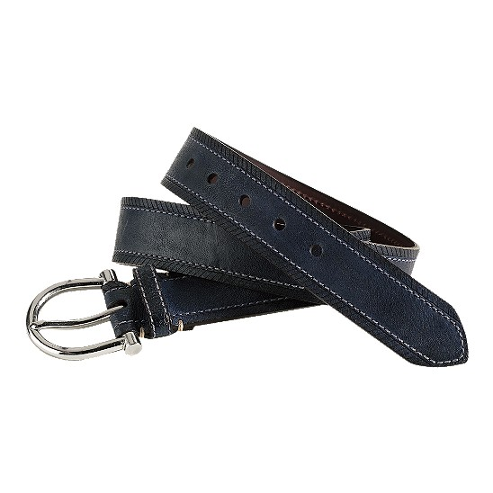Cole Haan Boothbay Belt Navy Washed Outlet Coupons