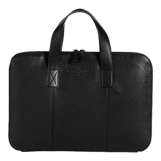 Cole Haan Merced Slim Computer Case Black Grain Outlet Coupons