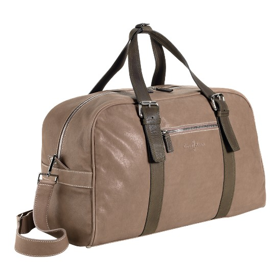 Cole Haan Trovato Weekender Taupe/Olive Outlet Coupons