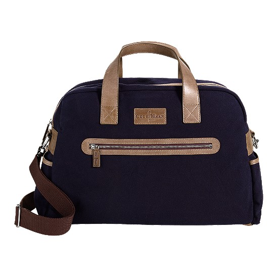 Cole Haan Merced Weekender Navy Canvas/Taupe Outlet Coupons