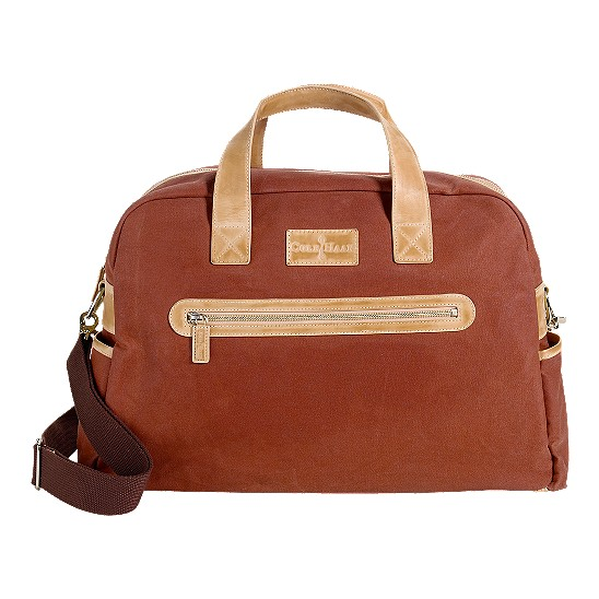 Cole Haan Merced Weekender Burnt Orange Canvas/Buff Outlet Coupons