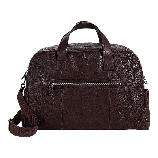 Cole Haan Merced Weekender Dark Brown Washed Outlet Coupons