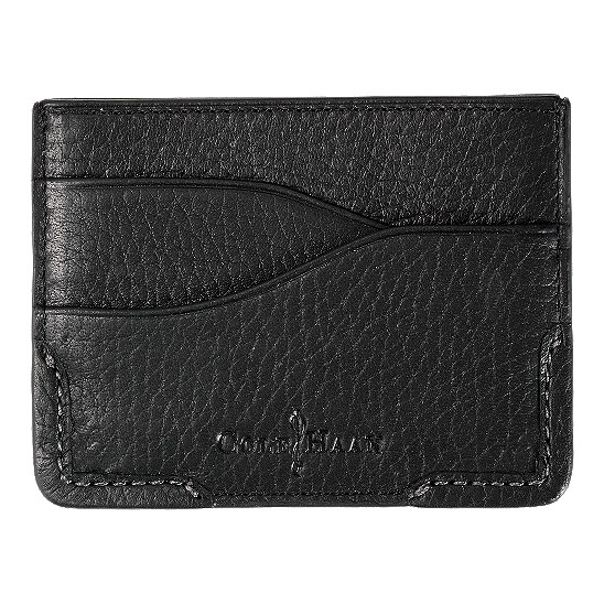 Cole Haan Merced Business Card Case Black Grain Outlet Coupons