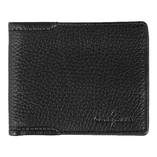 Cole Haan Merced Slim Wallet Black Grain Outlet Coupons