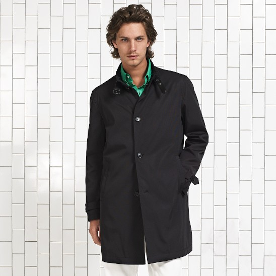 Cole Haan City Oxford Rain Topper Coat Black Outlet Coupons