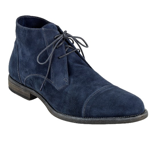 Cole Haan Vincenti Cap-Toe Boot Peacoat Suede Outlet Coupons