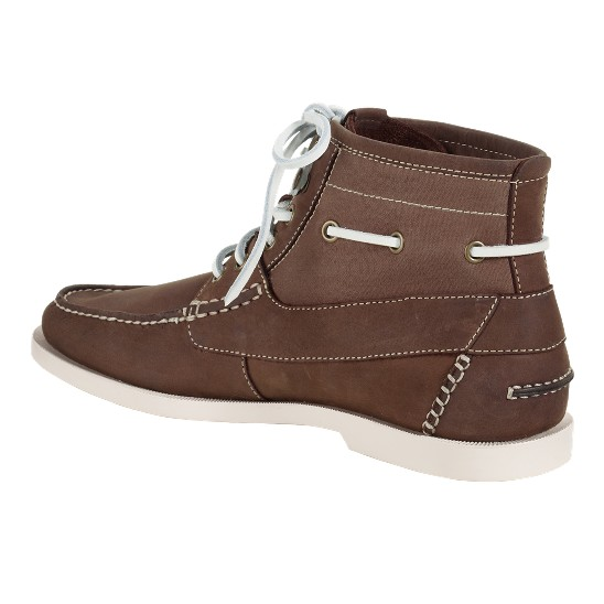Cole Haan Air Yacht Club Boot Mahogany/Spice Canvas Outlet Coupons