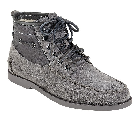 Cole Haan Air Yacht Club Boot Charcoal Suede/Charcoal Outlet Coupons