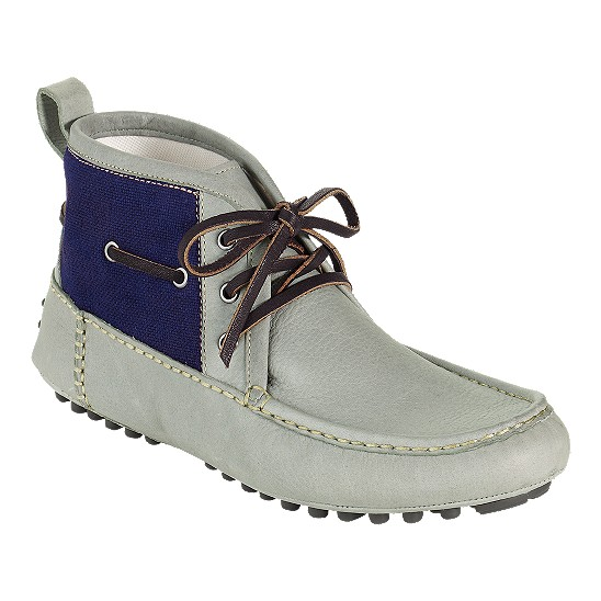 Cole Haan Air Grant Moc Boot Stone/Denim Canvas Outlet Coupons