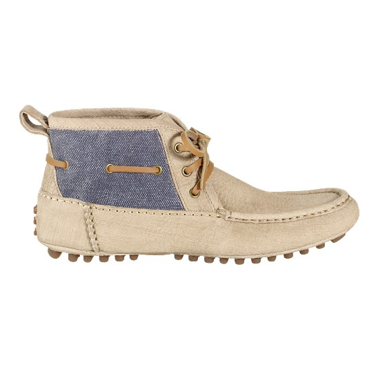 Cole Haan Air Grant Moc Boot Buff/Denim Canvas Outlet Coupons