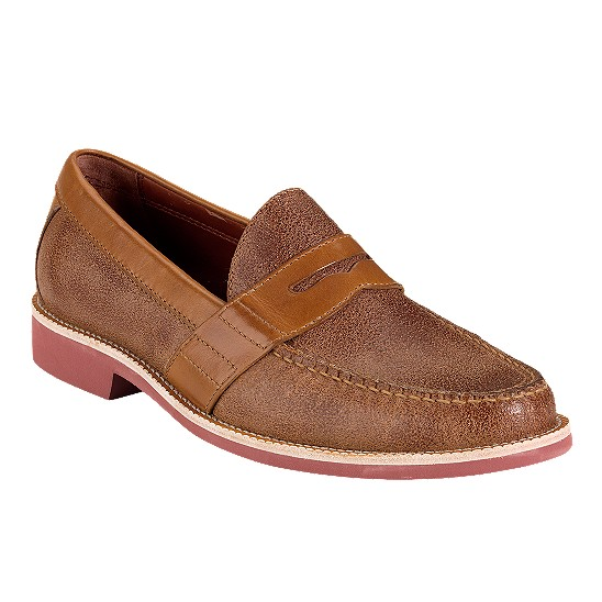 Cole Haan Air Monroe EVA Penny Bark Suede/Cognac Outlet Coupons