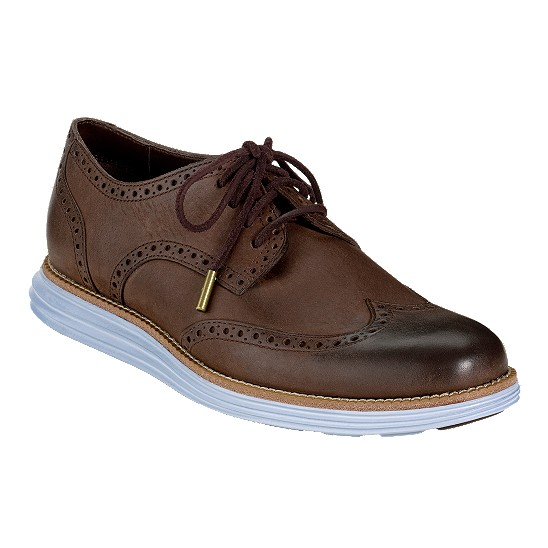 Cole Haan LunarGrand Wingtip Chestnut/Ashly Blue Outlet Coupons