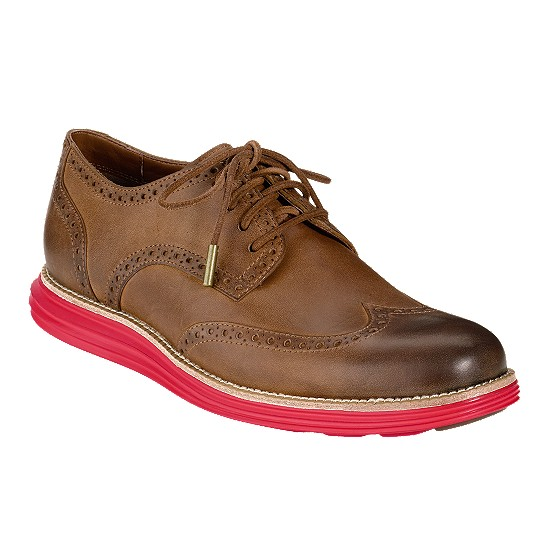 Cole Haan LunarGrand Wingtip Almond/Red Outlet Coupons